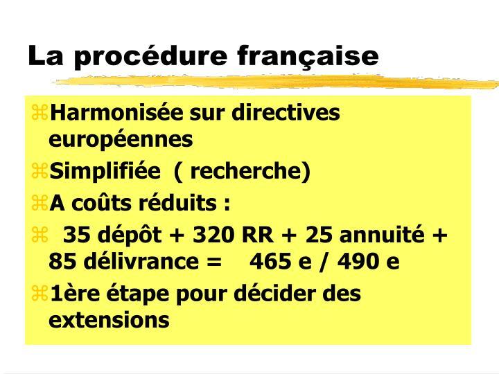 La procédure française