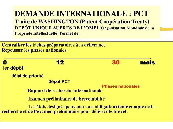 DEMANDE INTERNATIONALE : PCT