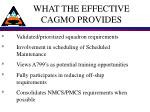 what the effective cagmo provides