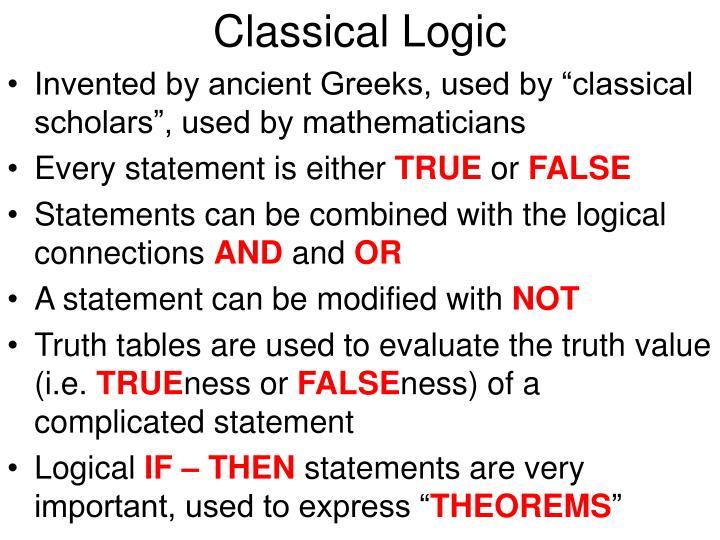 Classical logic