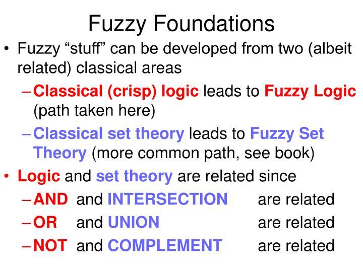 Fuzzy foundations