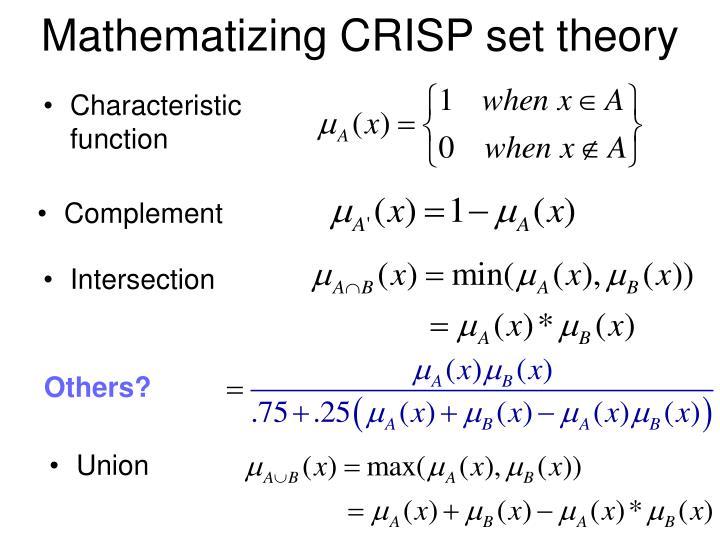 Mathematizing CRISP set theory