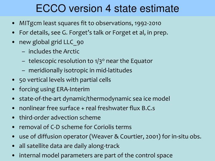 ECCO version 4 state estimate