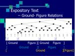 expository text ground figure relations