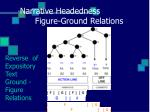 narrative headedness figure ground relations