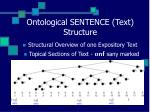 ontological sentence text structure