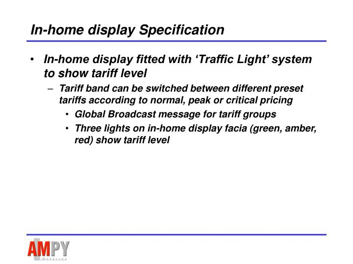 In-home display Specification