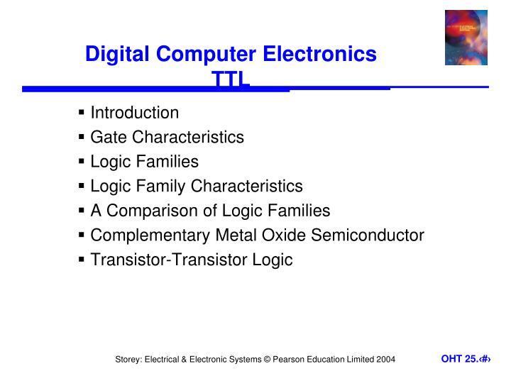 digital computer electronics ttl n.