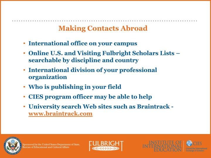 Making Contacts Abroad