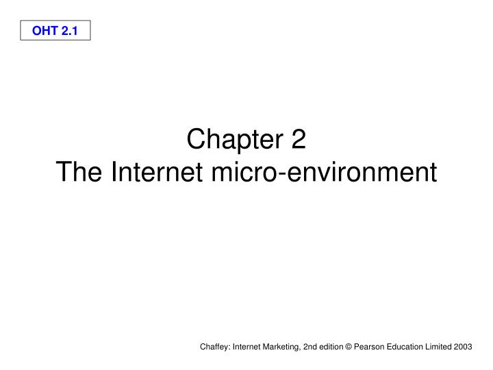 chapter 2 the internet micro environment