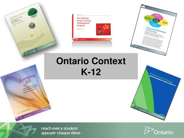 Ontario Context