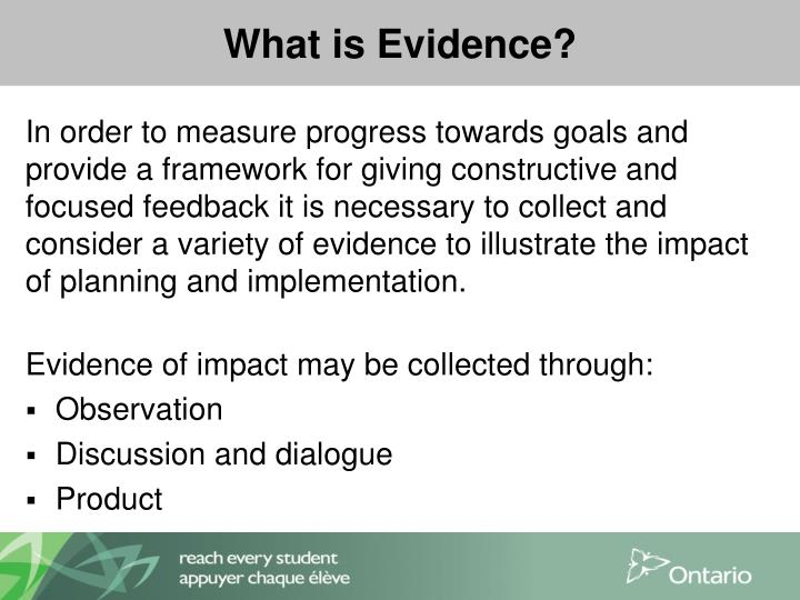 What is Evidence?