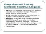 comprehension literary elements figurative language
