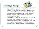 fluency tempo1
