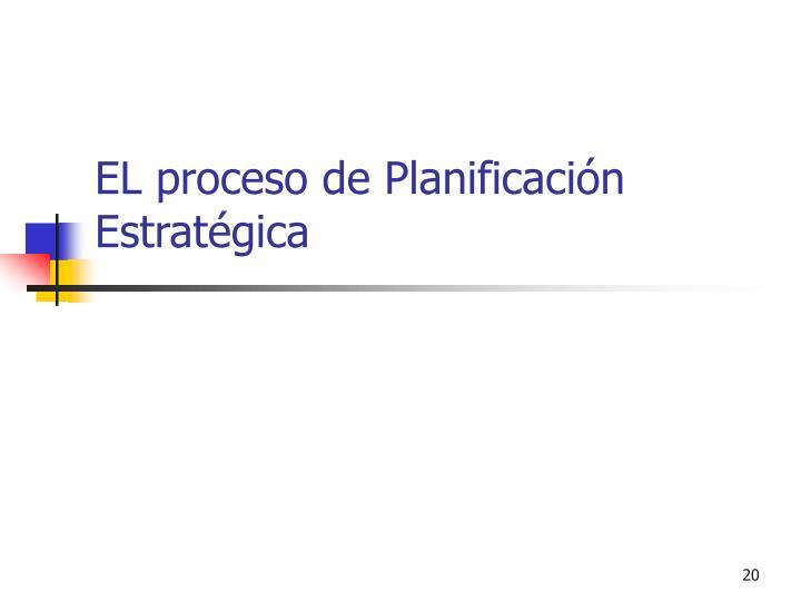 EL proceso de Planificación Estratégica
