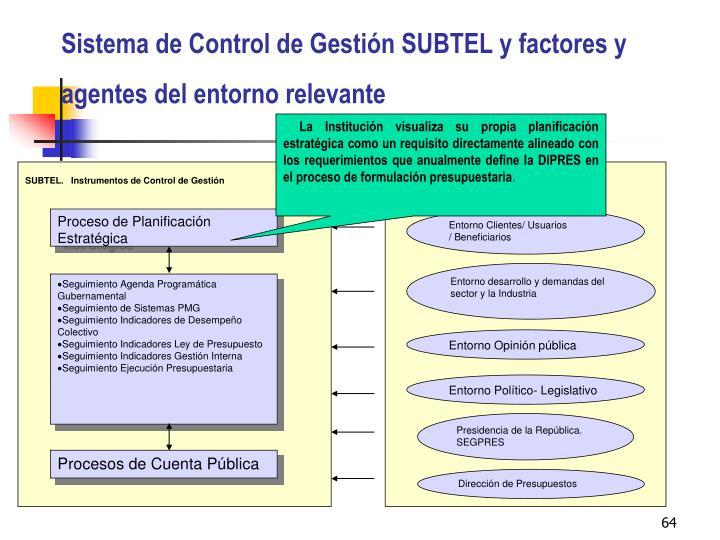 SUBTEL.   Instrumentos de Control de Gestión