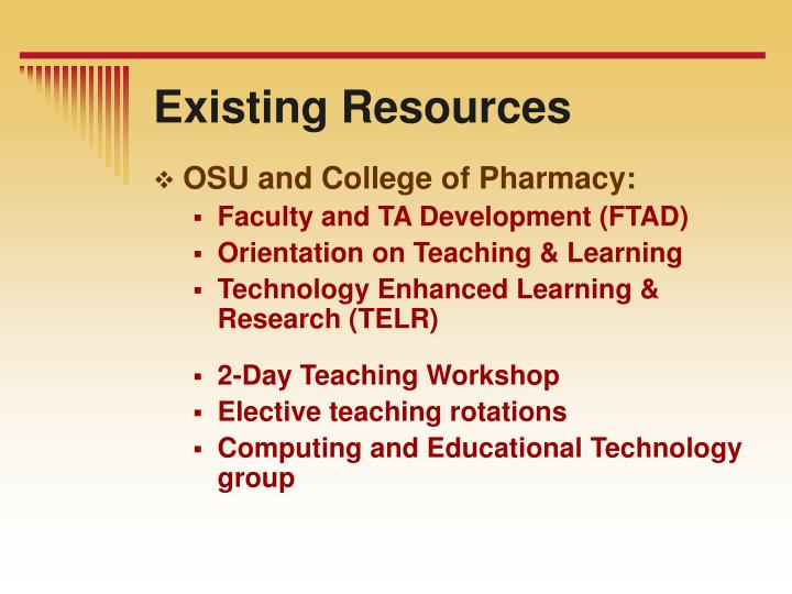 Existing Resources