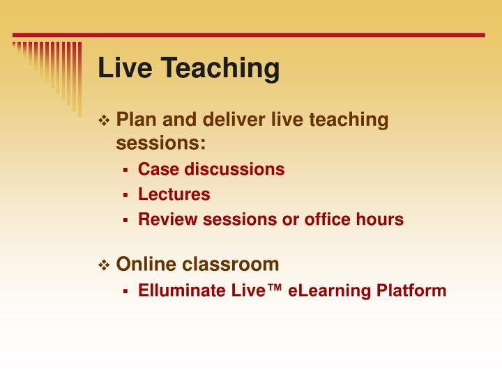 Live Teaching