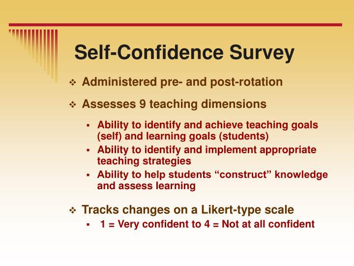 Self-Confidence Survey