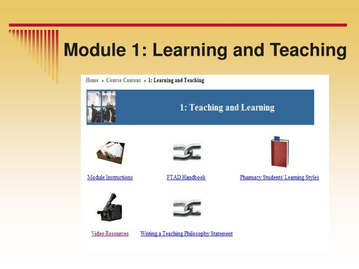 Module 1: Learning and Teaching