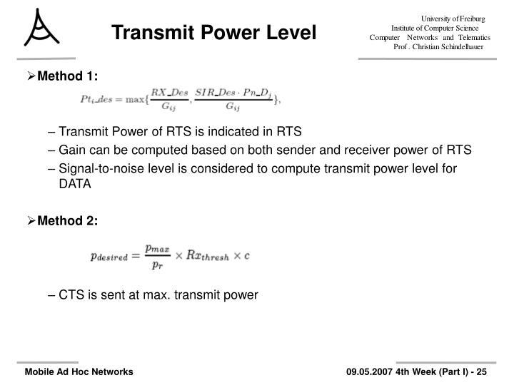 Transmit Power Level