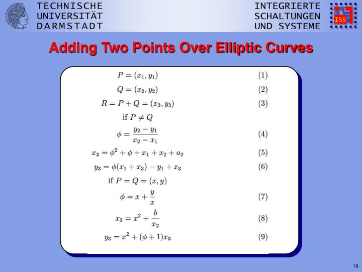 Adding Two Points Over Elliptic Curves