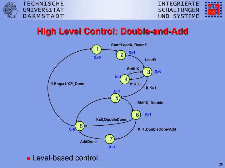 High Level Control: Double-and-Add