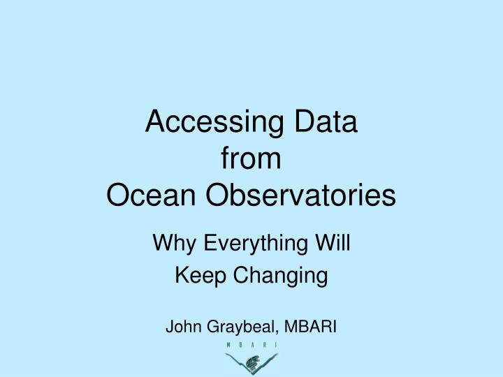 accessing data from ocean observatories