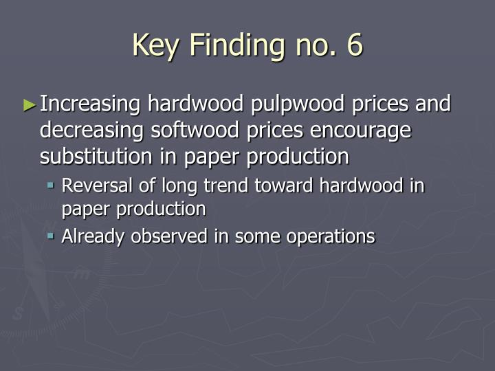 Key Finding no. 6