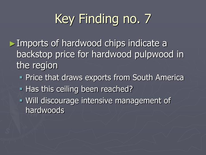 Key Finding no. 7