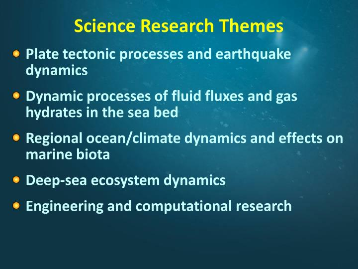 Science Research Themes