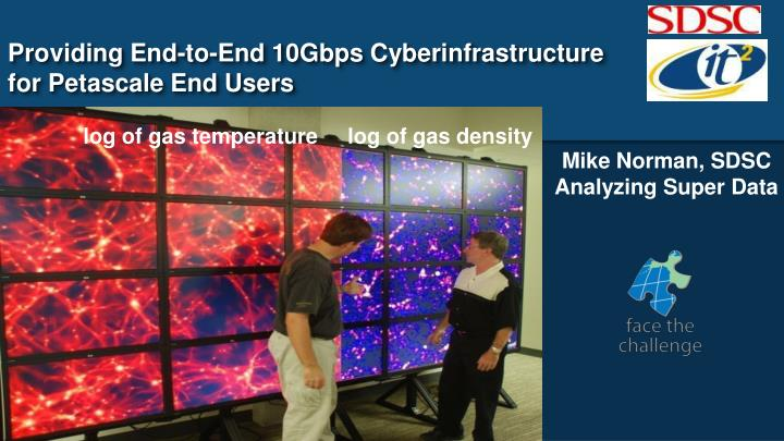 Providing End-to-End 10Gbps Cyberinfrastructure