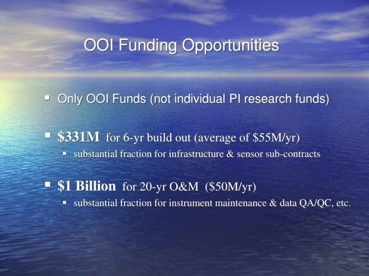 OOI Funding Opportunities