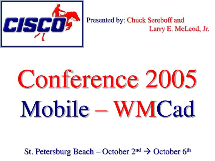Conference 2005 mobile wm cad
