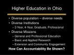 higher education in ohio