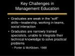 key challenges in management education
