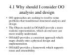 4 1 why should i consider oo analysis and design