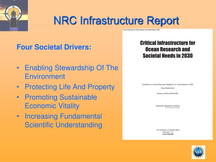 NRC Infrastructure Report