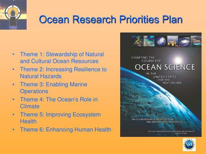 Ocean Research Priorities Plan