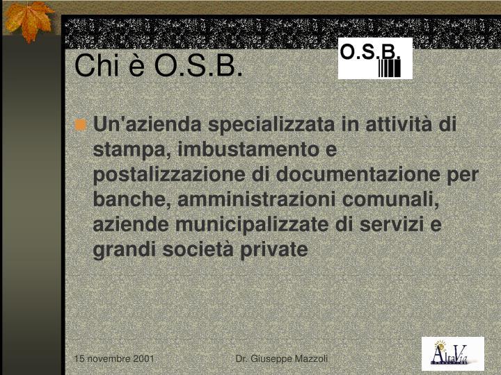 Chi è O.S.B.