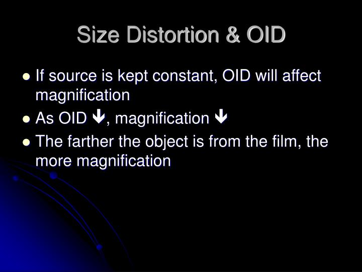 Size Distortion & OID