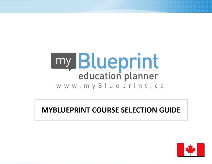 Www.myBlueprint.ca