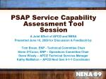 psap service capability assessment tool session