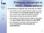 politiques concernant le niso points saillants2