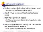 component deployers