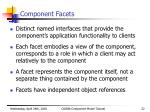 component facets