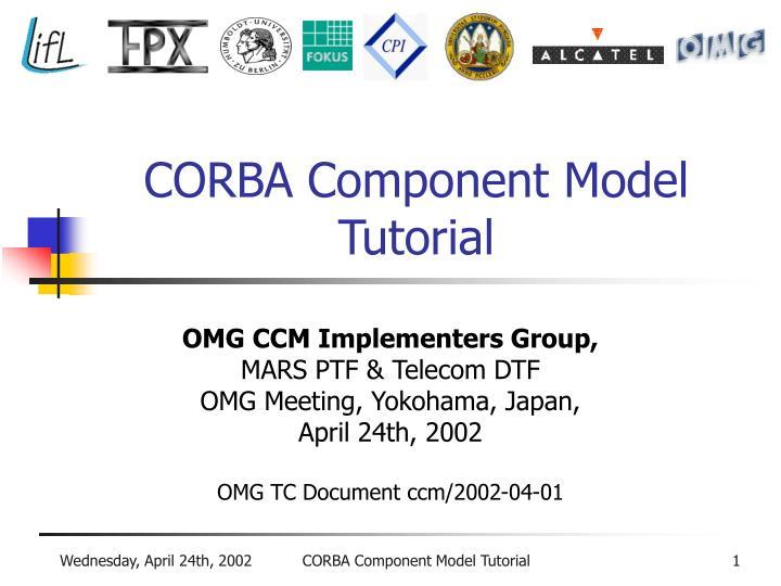 corba component model tutorial n.