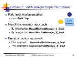different forkmanager implementations