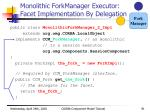 monolithic forkmanager executor facet implementation by delegation