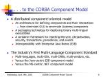 to the corba component model